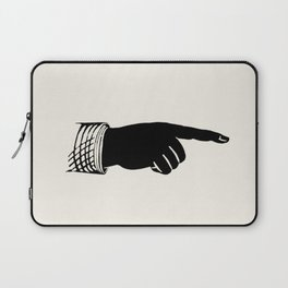 Hand Pointing Right Illustration Laptop Sleeve