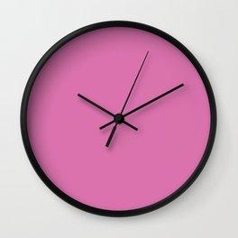 Peony Drama ~ Pure Pink Coordinating Solid Wall Clock