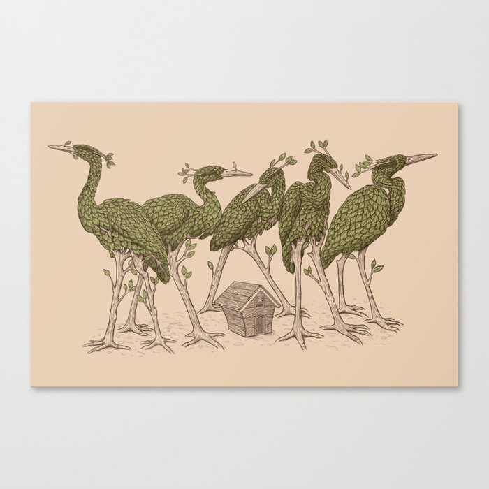 Bird Forest Canvas Print