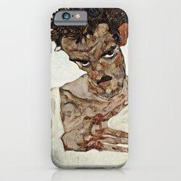 Egon Schiele - Self Portrait With Lowered Head iPhone Case
