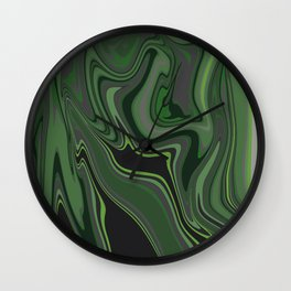 Distorted stripes in colour 1 Wall Clock