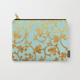 Golden Damask pattern Carry-All Pouch