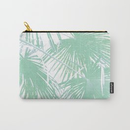 Subtle palm leaves Carry-All Pouch