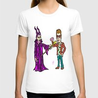 brad pitt T-shirts featuring Brangelina Valentine!  Brad Pitt and Angelina Jolie as Tyler Durden (Fight Club) and Maleficent!  by beetoons