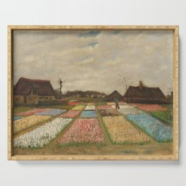 Bulb Fields by Vincent van Gogh Serving Tray