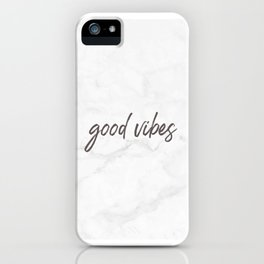 Good Vibes Marble iPhone Case