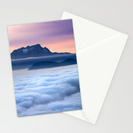 Sea of Fog in the Alps Stationery Cards