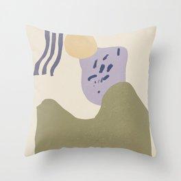 Minimal Collage Art  Throw Pillow