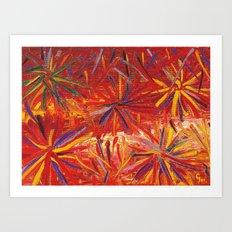 FIREWORK - DESIGN 1 Art Print