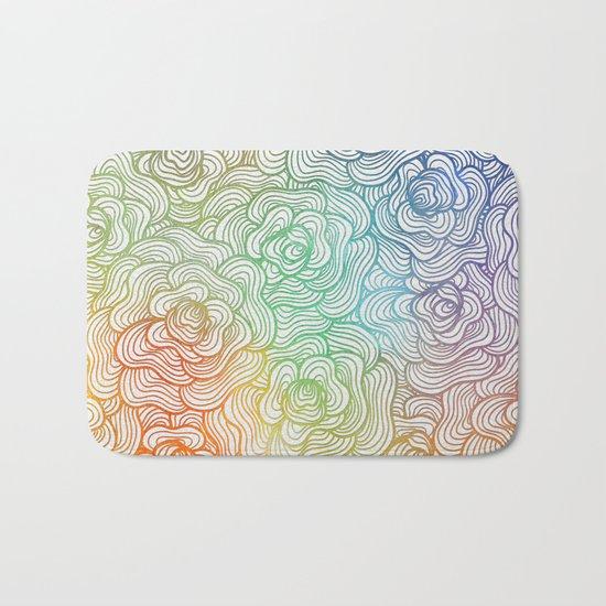 Abstract Roses 2 Bath Mat
