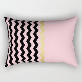 Chevron golden pink Rectangular Pillow