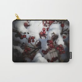 Snowy Flowering Crab Berries Carry-All Pouch