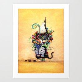 Zig-Zag Wanderer Art Print