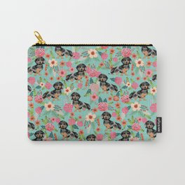 Dachshund dapple coat dog breed floral pattern must have doxie gifts dachsies Carry-All Pouch