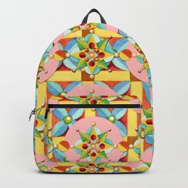Heraldic Pink Polka Dots Backpack