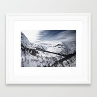 norway Framed Art Prints featuring Norway by Dustin Tan