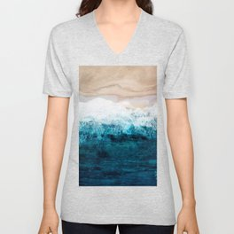 Watercolour Summer beach III Unisex V-Neck