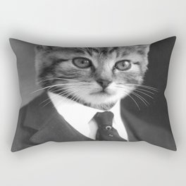 Gentleman Cat Rectangular Pillow