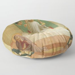 Fra Angelico - Mocking of Christ Floor Pillow