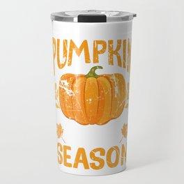 Pregnancy Announcement Baby Bumps First Pumpkin Spice Season Travel Mug