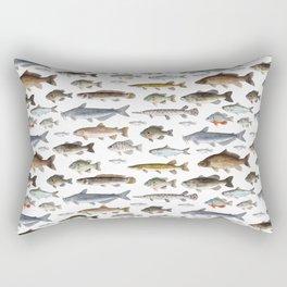 A Few Freshwater Fish Rectangular Pillow