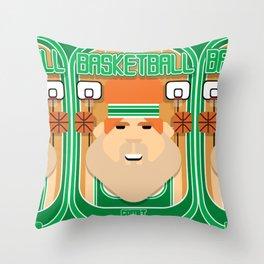 Basketball Green - Court Dunkdribbler - Josh version Throw Pillow