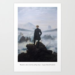 Wanderer above the Sea of Fog - Caspar David Friedrich Art Print