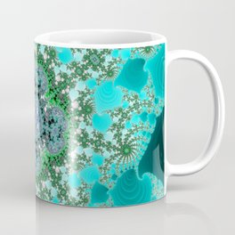 Fractal 4 Leaf Clover Coffee Mug
