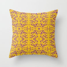 Purple and Gold Astral Design Throw Pillow