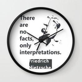 Friedrich Nietzsche quote Wall Clock
