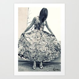 Black and White Thoughts  Art Print