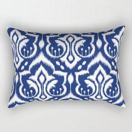 Ikat Damask Navy 2 Rectangular Pillow