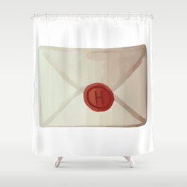 Magical Letter Watercolor Shower Curtain