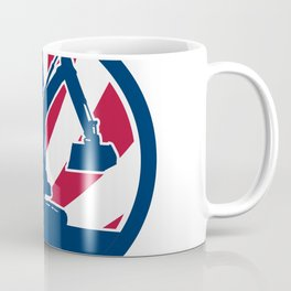 American Excavator USA Flag Icon Coffee Mug