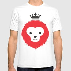 Little Lion Man Mens Fitted Tee White MEDIUM