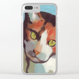Calico in Tokyo Clear iPhone Case