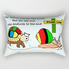 THE RACE - the turtle and the snail Rectangular Pillow