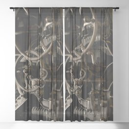 Industrial movement Sheer Curtain