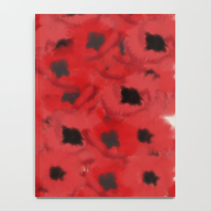 Field of Poppies In Summer Notebook