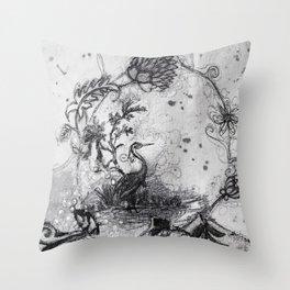EAU DELA Throw Pillow