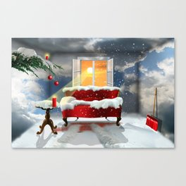 The desire for a white Christmas Canvas Print