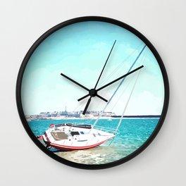 Dans la baie de Saint-Malo Wall Clock