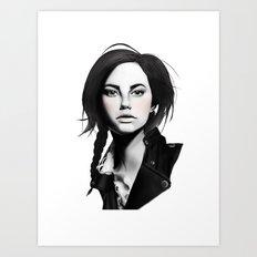 Fashion Illustration - Leather Jacket Art Print