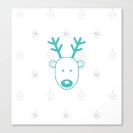 Blue-nosed Reindeer Canvas Print