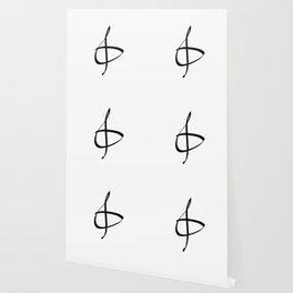 Treble clef minimalist hand drawn print Wallpaper