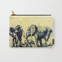 Save the Elephants          by Kay Lipton Carry-All Pouch