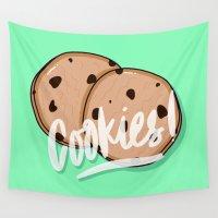 cookies Wall Tapestries featuring Cookies by Chelsea Herrick