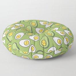 Egg and avocado Floor Pillow