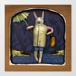 The Deserted Toyshop: Lucky Rabbit Canvas Print