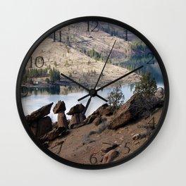 Rocks at Lake Billy Chinook Wall Clock